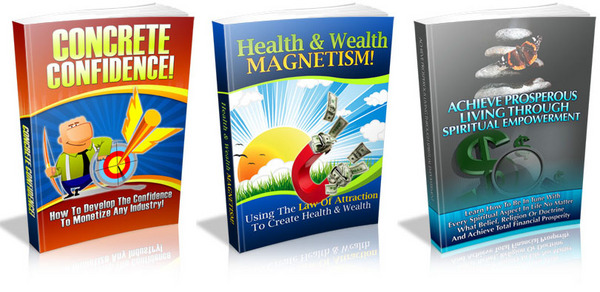 Product picture ***3 PLR eBook Concrete Confidence, Health &a...***