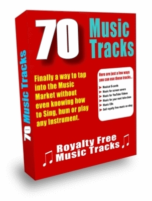 Product picture ***70 Royalty Free Music Tracks Package (PLR)***